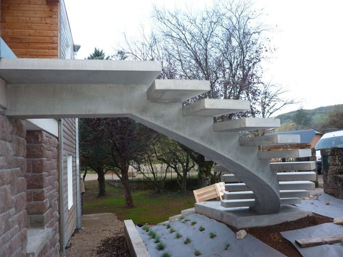Marche marche guillot pr fa pr fabrication de - Beton cire sur escalier bois ...